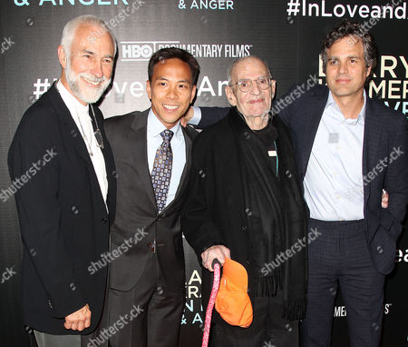 William David Webster, Kelsey Louie (CEO; GMHC), Larry Kramer and guest
