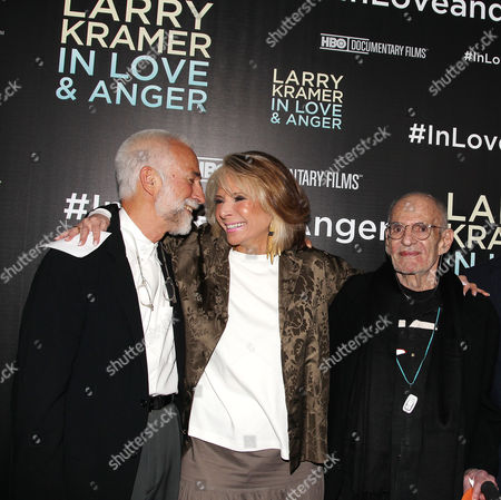 William David Webster, Sheila Nevins (Pres., HBO Documentary Films & Family) and Larry Kramer