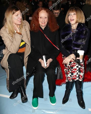 Virginia Smith, Grace Coddington and Anna Wintour