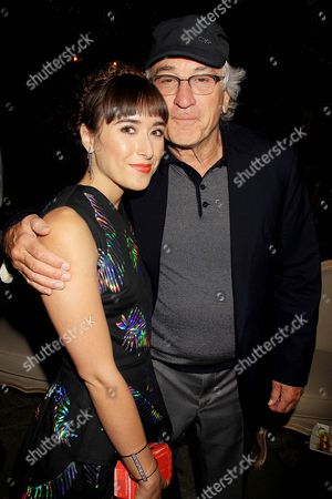 Christina Scherer and Robert De Niro