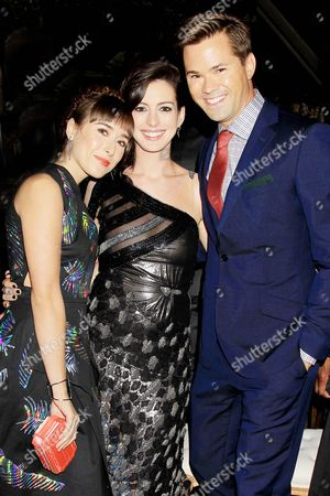 Christina Scherer, Anne Hathaway and Andrew Rannells