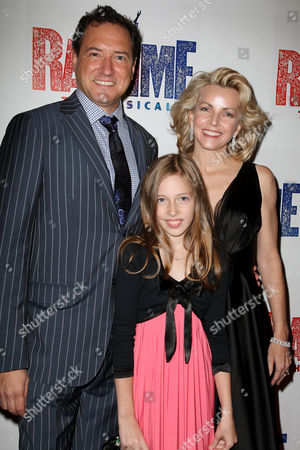 Stock Photo of Kevin McCollum, wife Lynette Perry and daughter