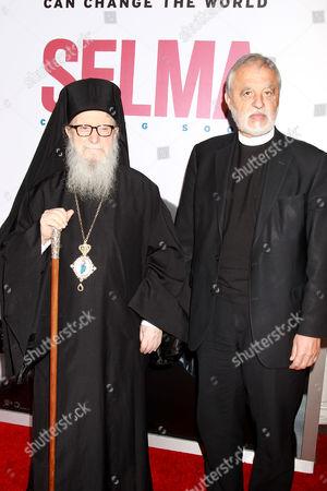 Archbishop Demetrios of America and Father Karloytsos