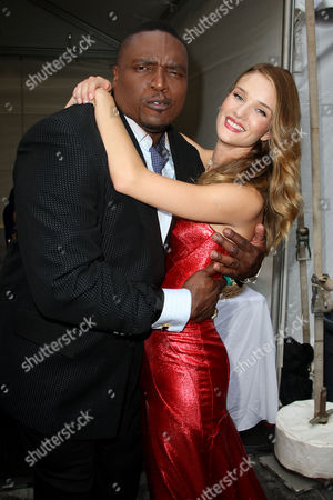 Stock Picture of Lester Speight and Rosie Huntington-Whiteley