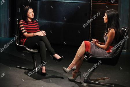 Juliya Chernetsky (Fuse Host) and Nicole Scherzinger