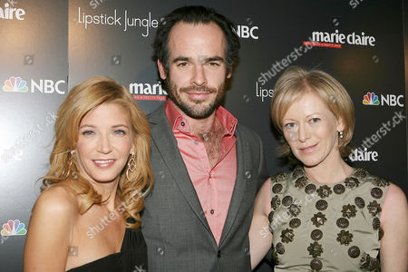 Candace Bushnell, Paul Blackthorne and Joanna Coles
