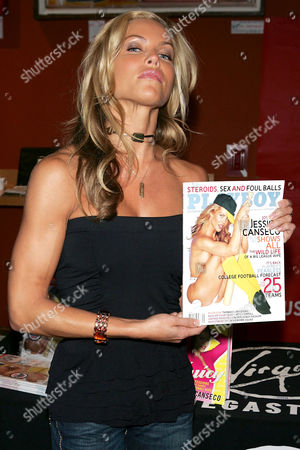 Jessica Canseco signs copies of her book 'Juicy - Confessions of a Former Baseball Wife' and her September Playboy Pictorial