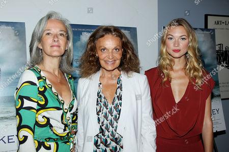 Tatiana De Rosnay, Diane von Furstenberg and Charlotte Poutrel
