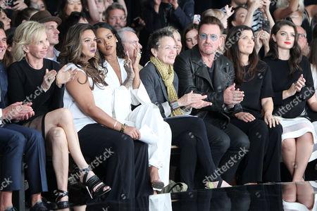 Trudie Styler, Rihanna, Laurie Anderson, Bono, Ali Hewson, Jordan Hewson