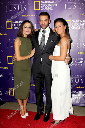 Stephanie Leonidas, Haaz Sleiman and Emmanuelle Chriqui