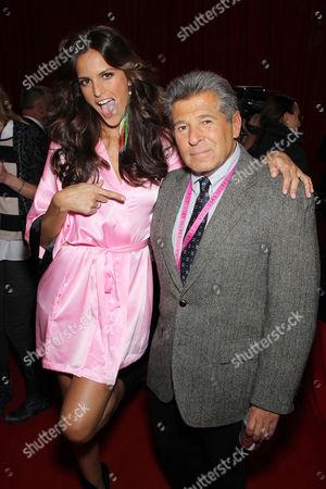 Izabel Goulart and Ed Razek (Chief Creative of Victoria's Secret)