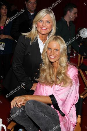 Stock Picture of Karolina Kurkova and Sharon Turney (CEO Victoria's Secret)