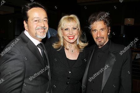 Stock Image of Len Amato, Linda Kennedy Baden and Al Pacino