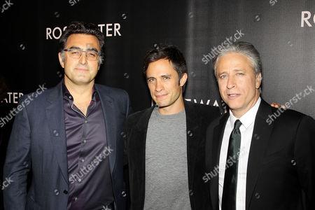 Maziar Bahari, Gael Garcia Bernal, Jon Stewart