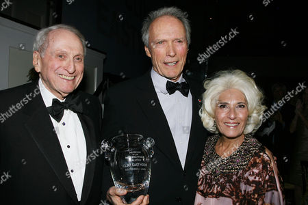 Stock Image of Herbert Schlosser, Clint Eastwood and Rochelle Slovin
