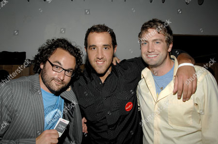 Stock Picture of Eli Gonda (Producer), Colin Clemens and Mitch Reinholt