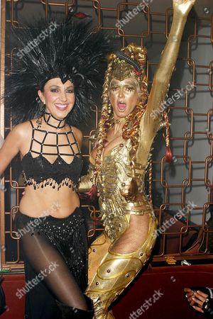 Monica Mitro and Heidi Klum