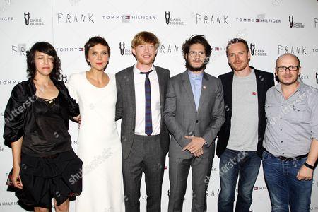 Carla Azar, Maggie Gyllenhaal, Domhnall Gleeson, Francois Civil, Michael Fassbender and Lenny Abrahamson (Director)