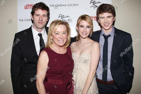 Gavin Wiesen, Nancy Uttley, Emma Roberts and Freddie Highmore