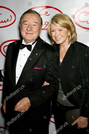 Sirio Maccioni and Martha Stewart