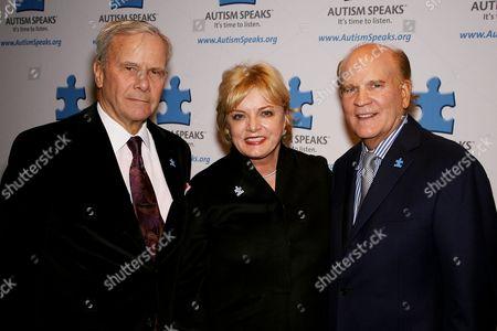 Tom Brokaw, Suzanne Wright and Bob Wright (Co-Founders Autism Speaks)