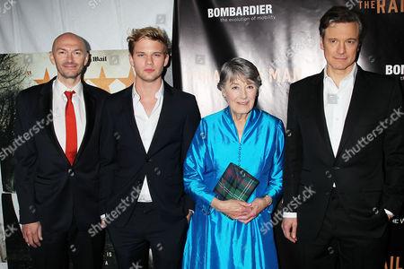 Stock Image of Jonathan Teplitzky, Jeremy Irvine, Patti Lomax, Colin Firth