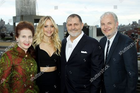 Lynn Hirschberg (W Magazine), Jennifer Lawrence, Tim Palen (Lionsgate Chief Brand Officer / Pres. of Worldwide Mark.), Francis Lawrence (Director)