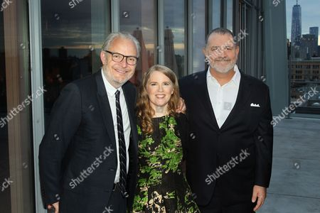 Stock Photo of Cap Pryor, Tim Palen (Lionsgate Chief Brand Officer / Pres. of Worldwide Mark.), Suzanne Collins (Author Hunger Games)