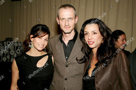 Stock Photo of Gina Gershon, Quentin Mackay (Creative Director Samsonite), Drena De Niro