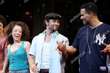 Stock Photo of Marcy Harriell, Corbin Bleu and Christopher Jackson