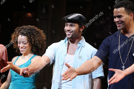 Stock Image of Marcy Harriell, Corbin Bleu and Christopher Jackson