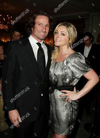 Jane Krakowski with fiance Robert Godley