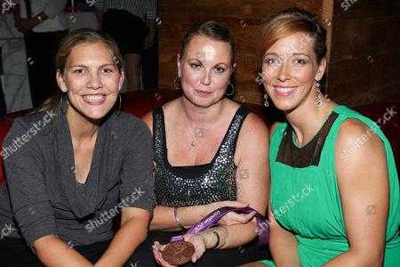 Megan Kalmoe (R) and guests