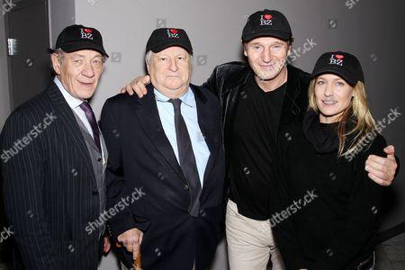 Sir Ian McKellen, Bobby Zarem, Liam Neeson and Robin Wright Penn