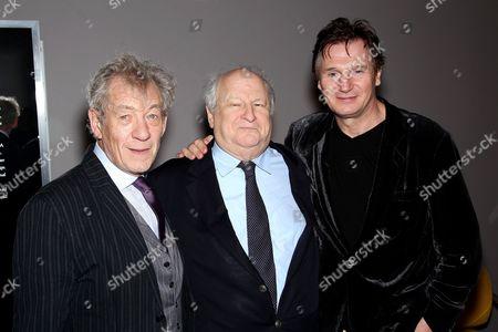 Stock Photo of Sir Ian McKellen, Bobby Zarem and Liam Neeson