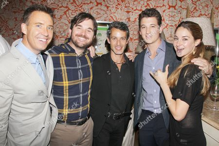 Tom McNulty (Producer), James Ponsoldt (Director), Andrew Lauren (Producer), Miles Teller and Shailene Woodley