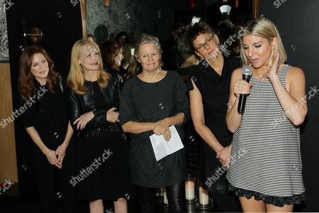 Stock Picture of Julianne Moore, Patricia Clarkson, Mary Harron, Rebecca Miller, Anna Martemucci (Grant Recipient)