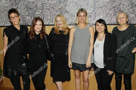 Rebecca Miller, Julianne Moore, Patricia Clarkson, Anna Martemucci (Grant Recipient), Mynette Louie, Mary Harron