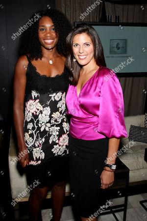 Stock Image of Venus Williams, Jessica Igoe (Director-Global Sponsorship Marketing AmEx)