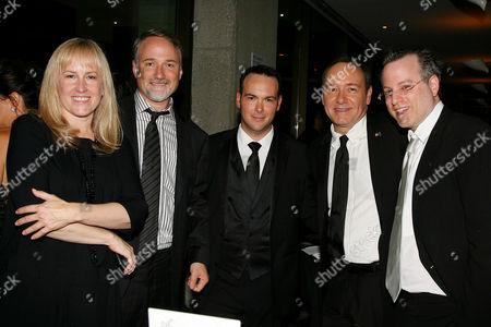 Cean Chaffin, David Fincher (Director), Dana Brunetti, Kevin Spacey and Ben Mezrich