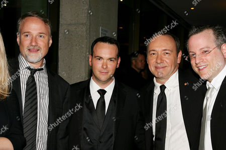 David Fincher (Director), Dana Brunetti, Kevin Spacey and Ben Mezrich