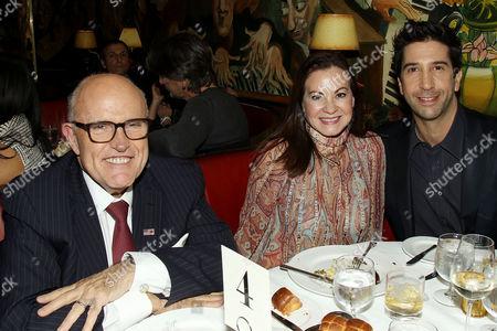 Rudy Giuliani, Judith Nathan Giuliani, David Schwimmer