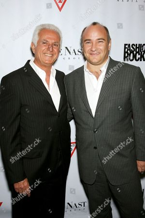 Maurice Marciano and Richard Beckman (President Conde Nast Media Group)