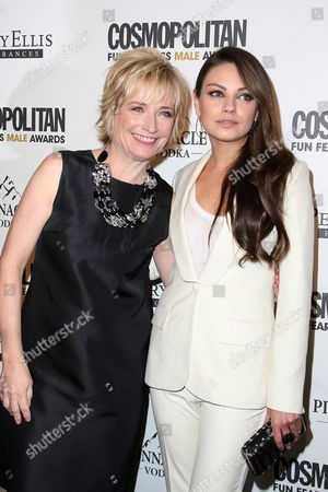 Kate White (Editor-in-Chief, Cosmopolitan) and Mila Kunis