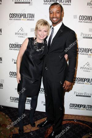 Kate White (Editor-in-Chief, Cosmopolitan) and Isaiah Mustafa
