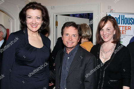 Rosemary Ellis (Editor in Chief of Good Housekeeping), Michael J. Fox and Patricia Haegele (Publisher of Good Housekeeping)