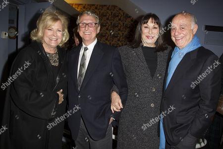 Candice Bergen, Mike Nichols, Anjelica Huston and Marshall Rose