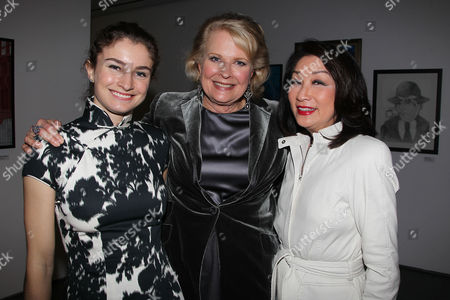 Candice Bergen, Chloe Malle (daughter) and Connie Chung