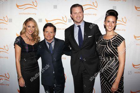Tracy Pollan, Michael J Fox, Christina Geist and Willie Geist