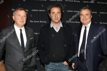 Stock Photo of Graziano de Boni, Paolo Sorrentino and Mario Calvo-Platero